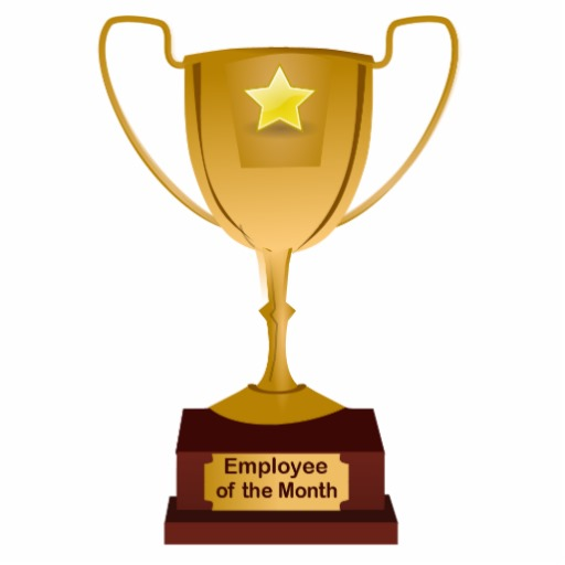 Employee Of The Month Award Golden Trophy Photo Sculpture   Zazzle
