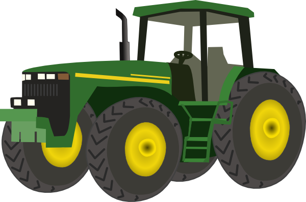 Green Tractor Clip Art At Clker Com   Vector Clip Art Online Royalty