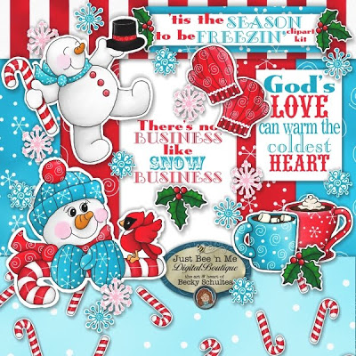 Just Bee  N Me  Clipart Kit   Calendars   More Christmas