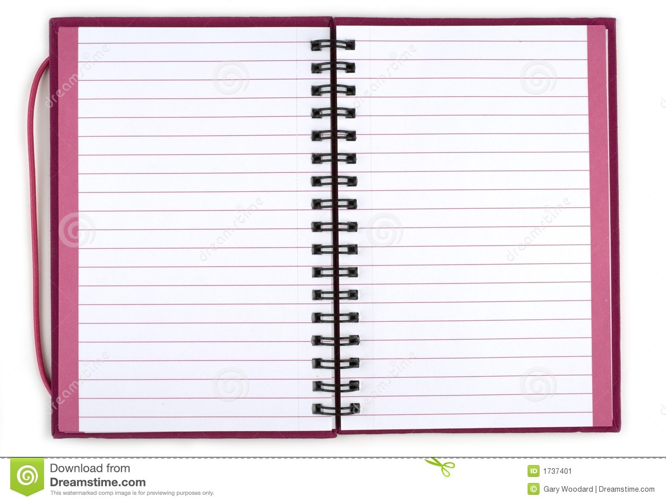 Opened Spiral Notebook  Stock Image   Image  1737401