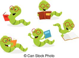 Reading Worm Clipart Vector Graphics  155 Reading Worm Eps Clip Art