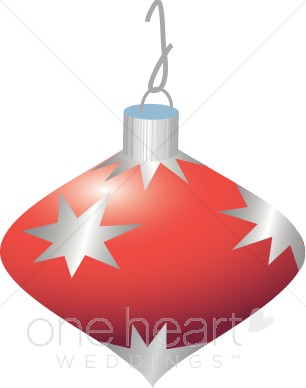 Red Ornament Clipart   Christmas Wedding Clipart