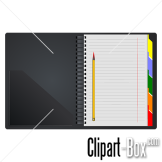 Related Open Notebook Cliparts