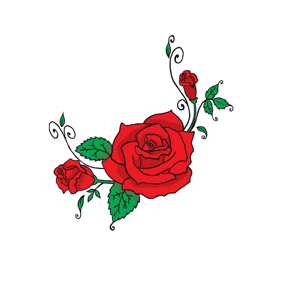 Cartoon roses clipart suggest