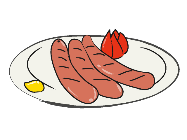 Sausage Clipart Sausage Cartoon German Sausage