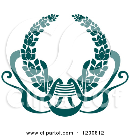 Teal Christmas Ribbon Clipart