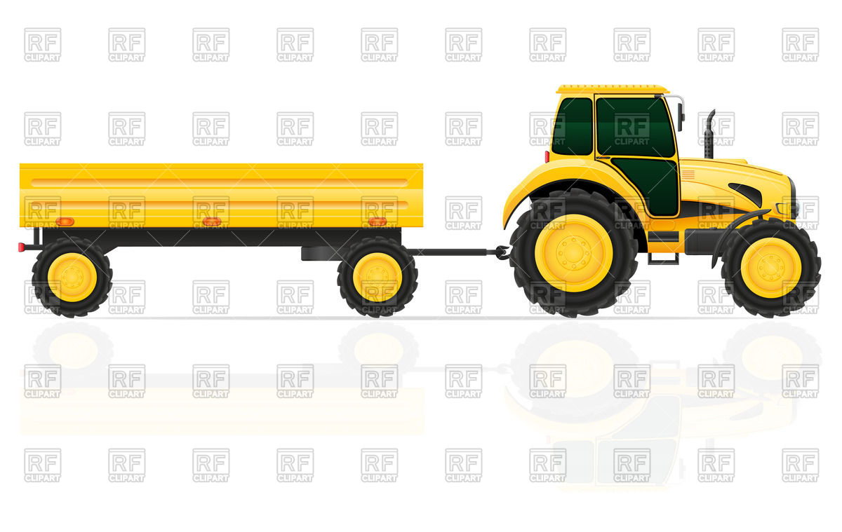 Tractor With A Trailer 46948 Download Royalty Free Vector Clipart