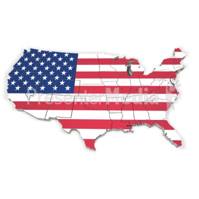 United States Map With Flag   Signs And Symbols   Great Clipart For