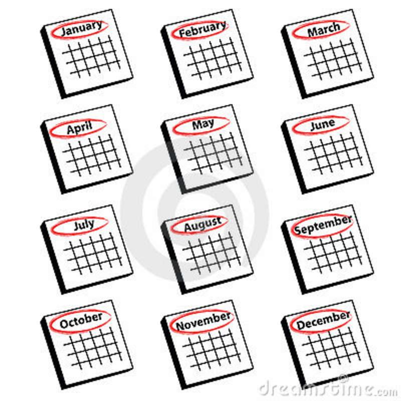 Calendar Year Clip Art : Calendar months clipart suggest