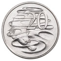 20 Cents Reverse Image   Platypus