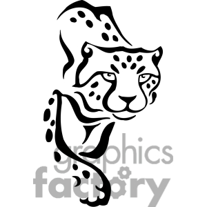 Cheetah Outline Clipart - Clipart Kid