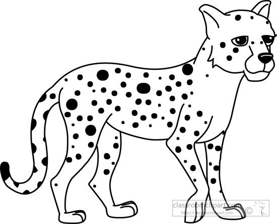 Cheetah Outline Clipart Clipart Suggest