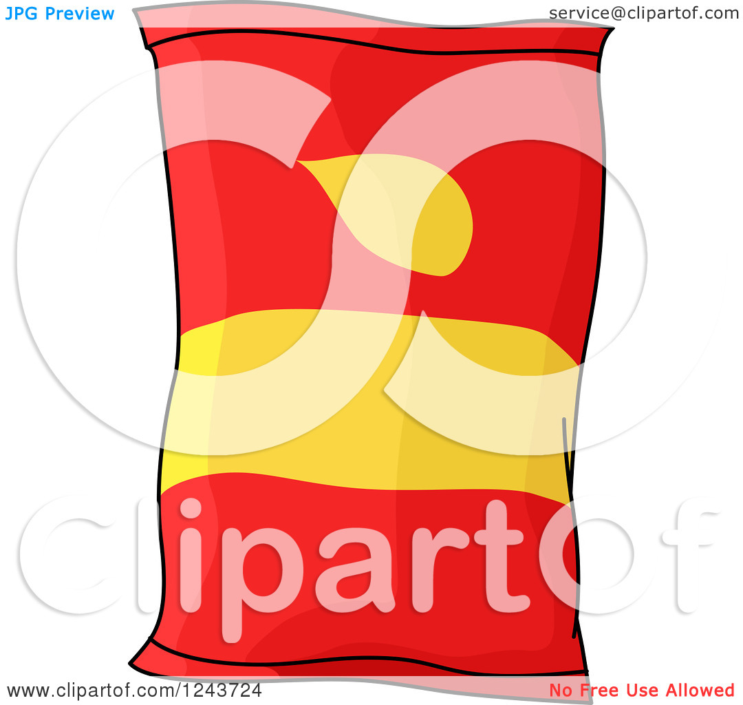 Potato Chip Bag Clipart - Clipart Kid