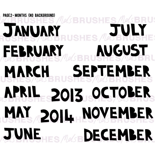 Calendar Word Art : Calendar months clipart suggest