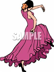 Flamenco Dancer   Royalty Free Clipart Picture
