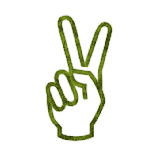 hand peace sign clipart clipart suggest