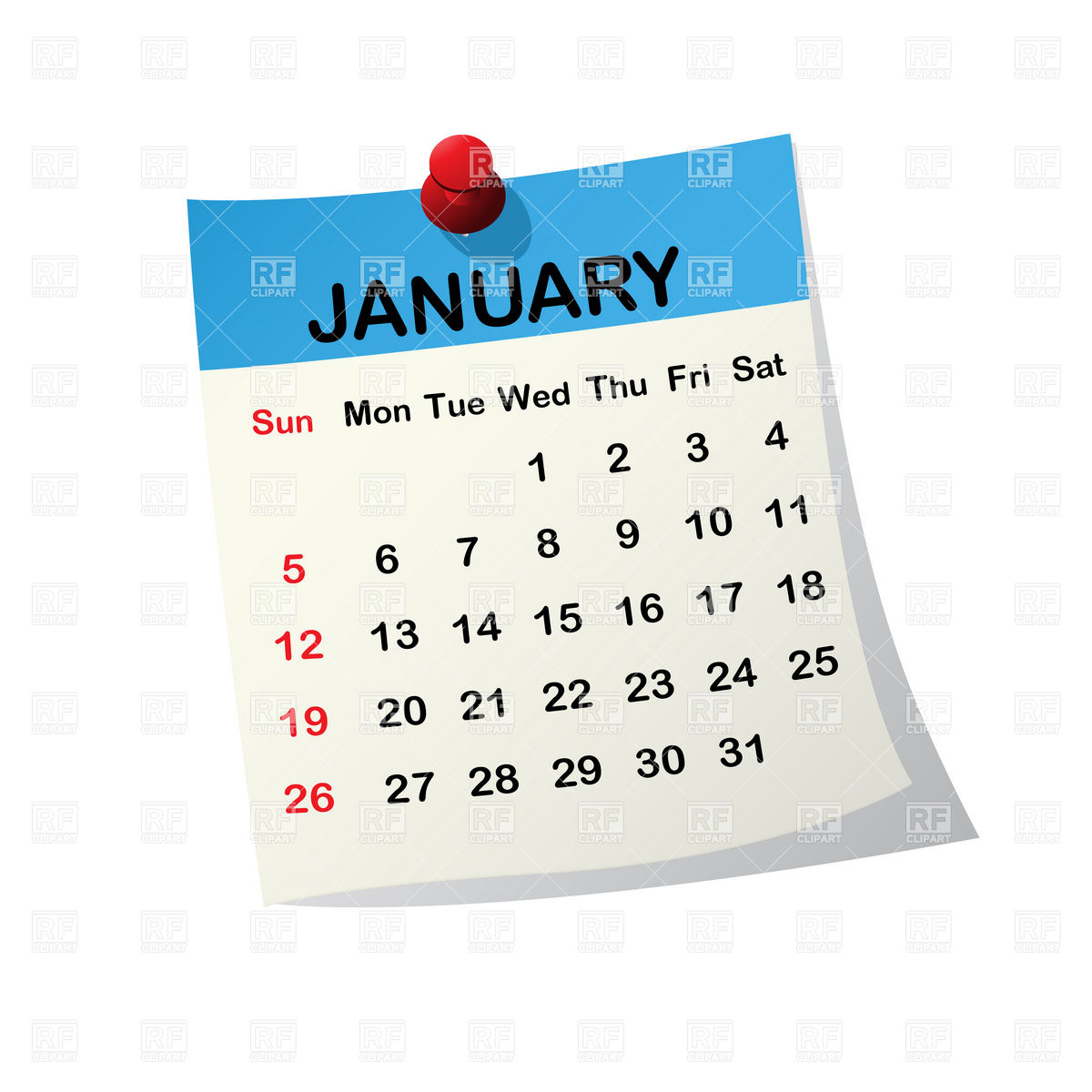Calendar Free Clipart : Month of january clipart suggest