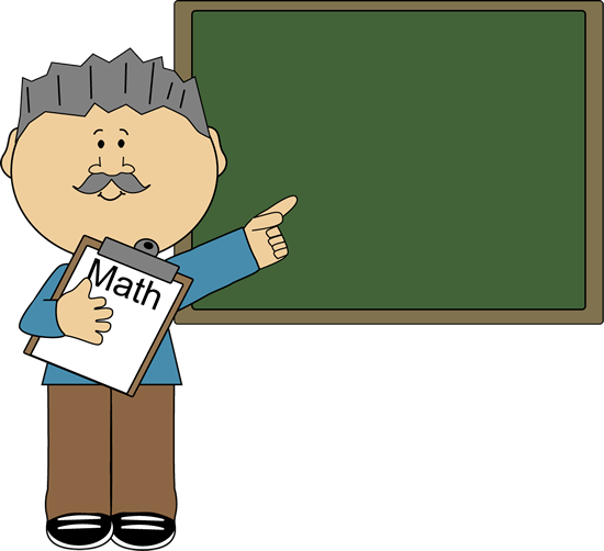 Man Math Teacher Clip Art Image   Man Math Teacher Holding A Math