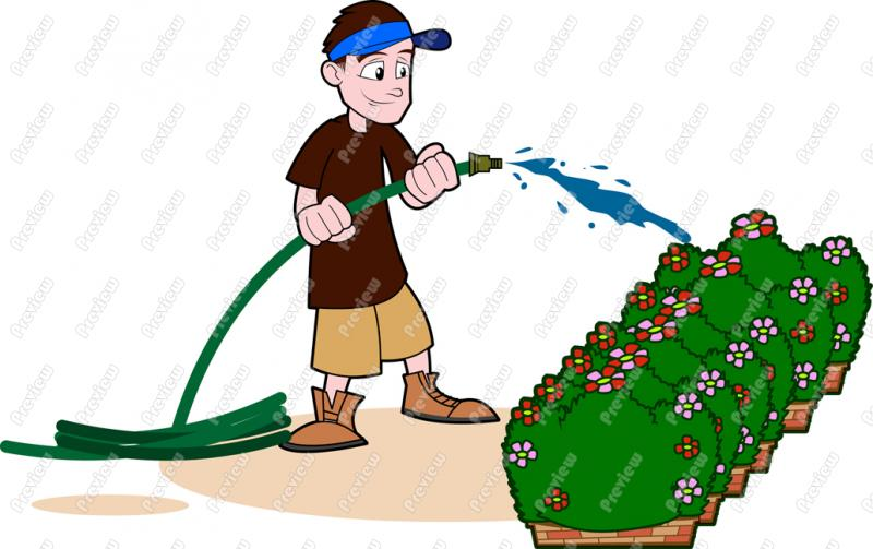 Watering Plants Clipart - Clipart Suggest
