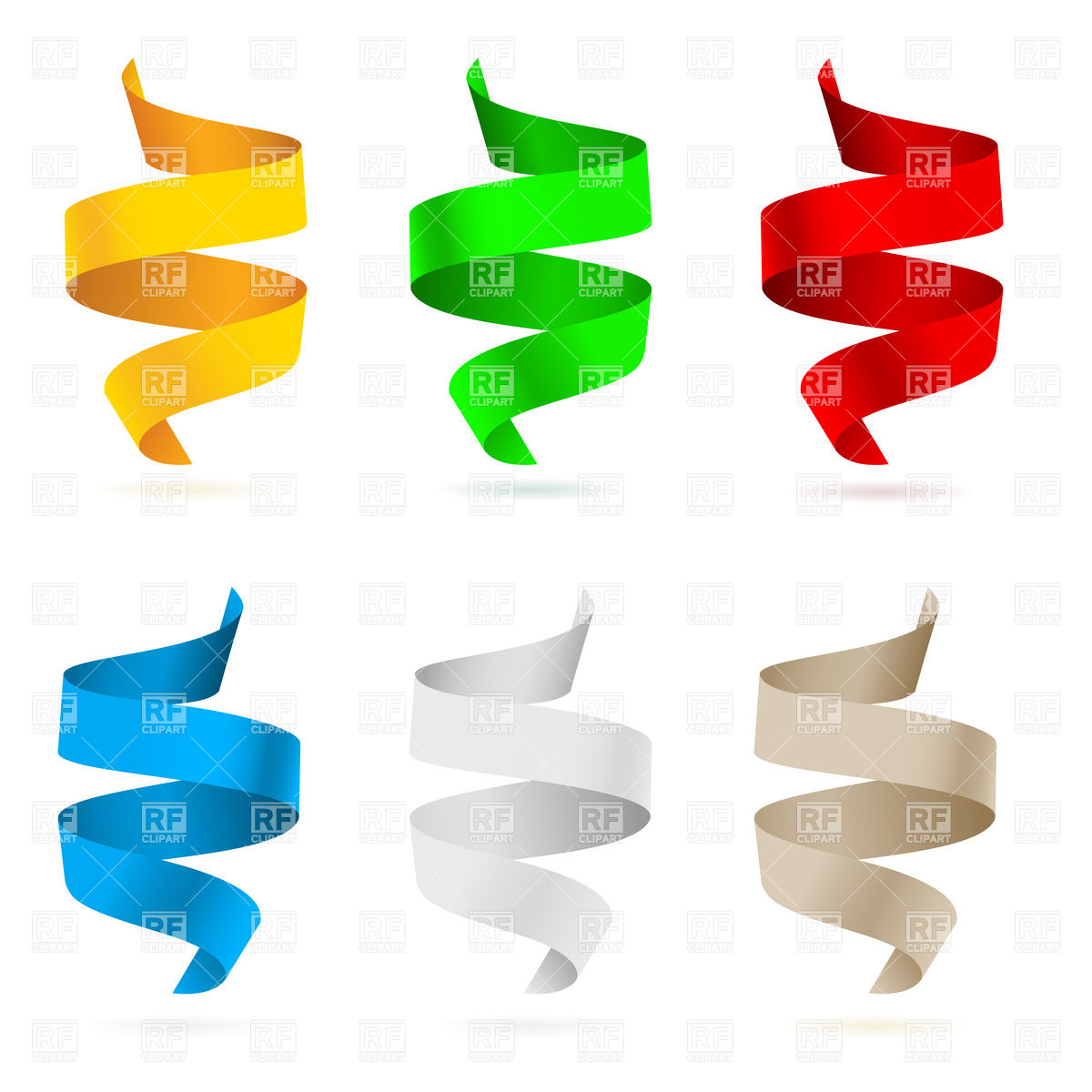 Or Chads Ribbons 7583 Download Royalty Free Vector Clipart  Eps