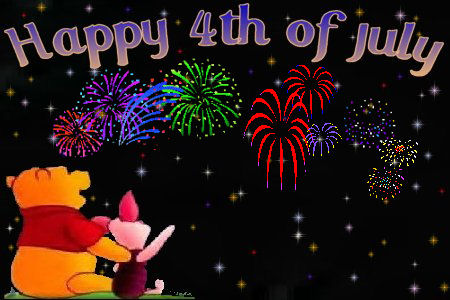Pooh   Friends 4th Of July Clipart