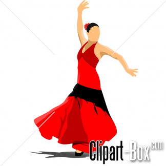 Related Flamenco Dancer Cliparts