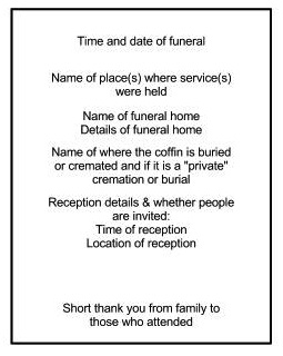 The Other Side Of Funerals  Making An Order Of Service
