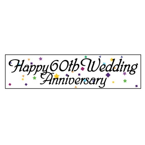 60th Anniversary   Paper Poster   Happy 60th Wedding Anniversary 1