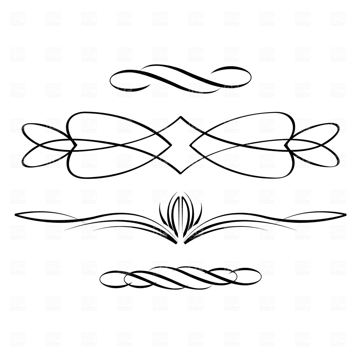 Clip Art Calligraphy Borders Clipart Clipart Suggest