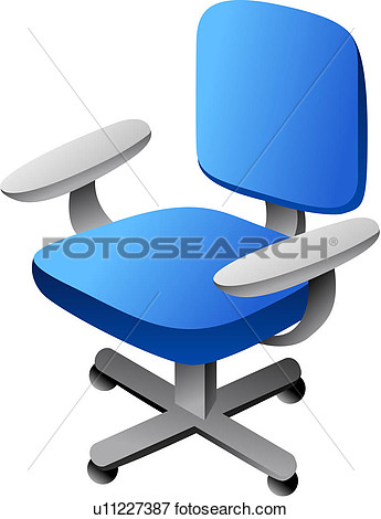 Clip Art Of Furniture Office Chair Seating Furniture Chair Seat