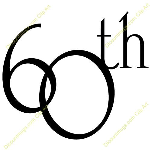 Clipart 11754 60th Anniversary   60th Anniversary Mugs T Shirts