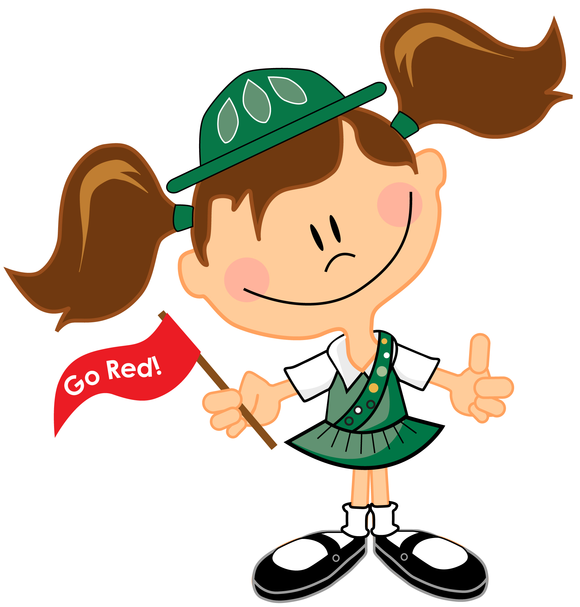 Clip Art Girl Scout Clipart junior girl scout clipart kid scouts private party coffee and canvas