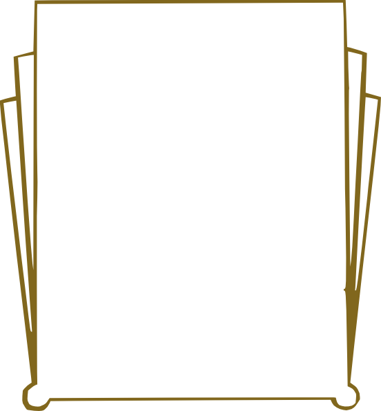 Gold Art Deco Clip Art At Clker Com   Vector Clip Art Online Royalty