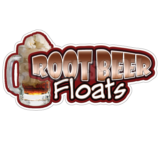 Root Beer Floats Concession Decal Cart Trailer Stand Sticker Equipment