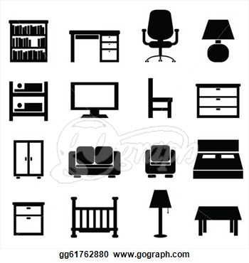Clip Art Furniture Clip Art clip art house furniture clipart kid vector stock and office icon set art