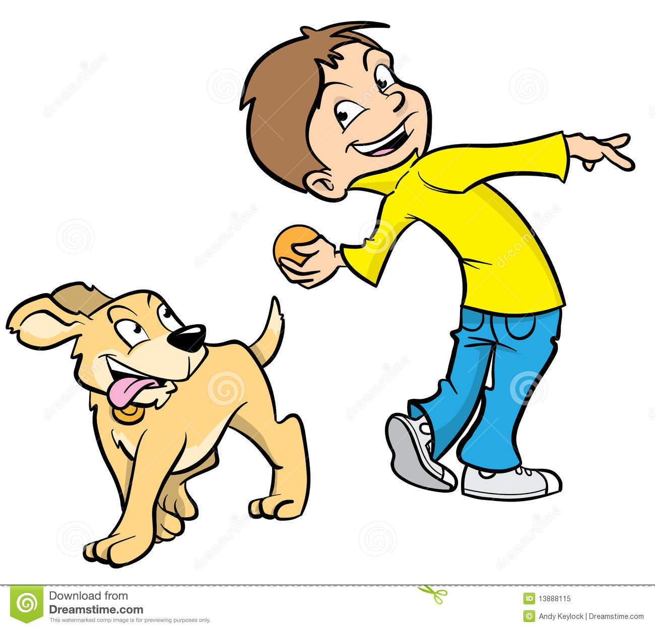 Dogs and kids clipart