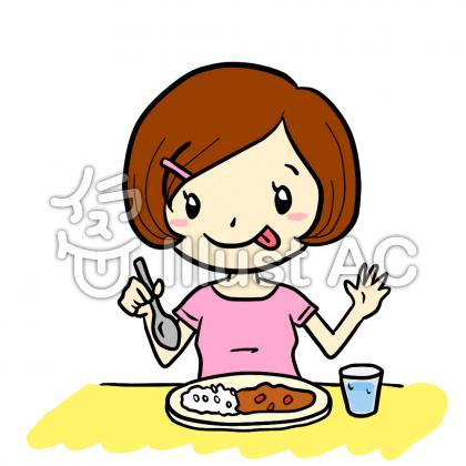Clipart Picture Girl Eating Lunch   Jobspapa Com