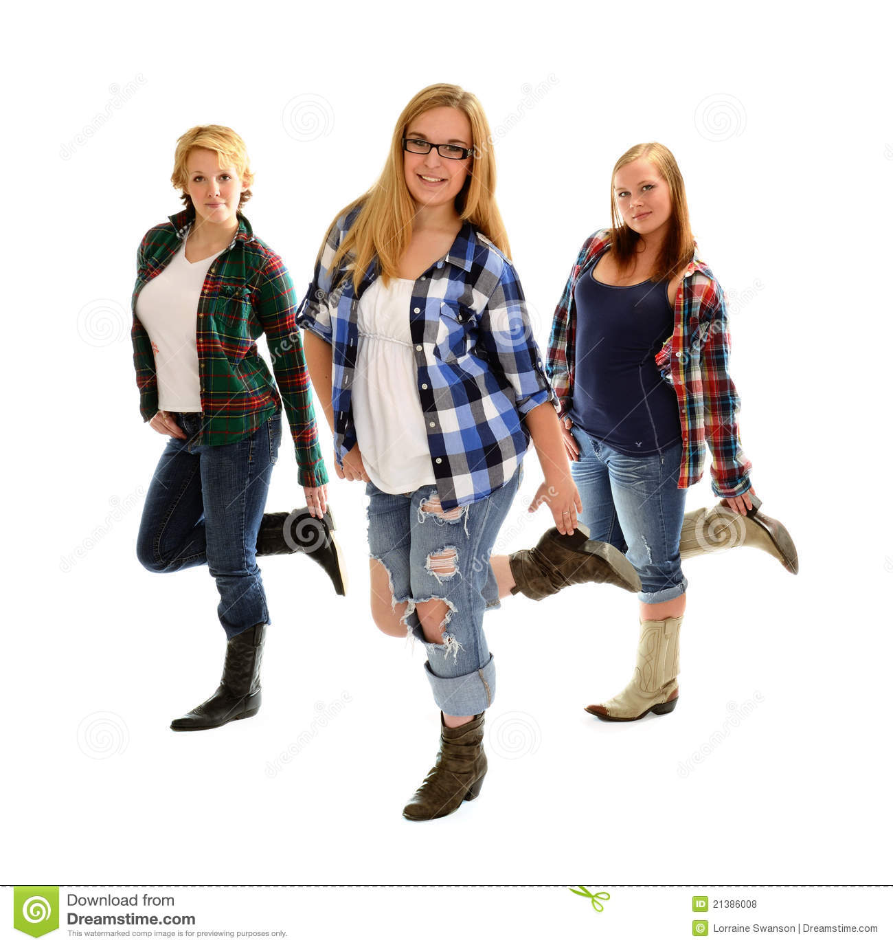 Country Line Dancing Girls Royalty Free Stock Photos   Image  21386008