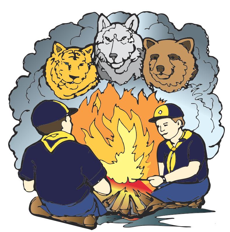 Boy Scouts Campfire Clip Art – Clipart Download