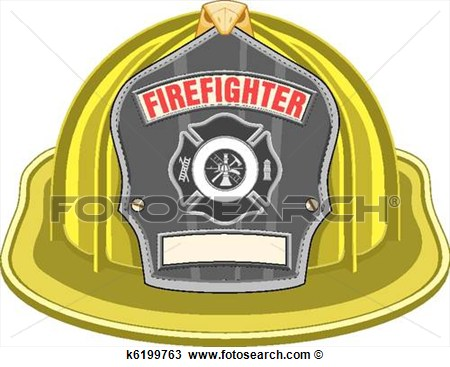 Firefighter Helmet Or Fireman Hat From The Front With Firefighter