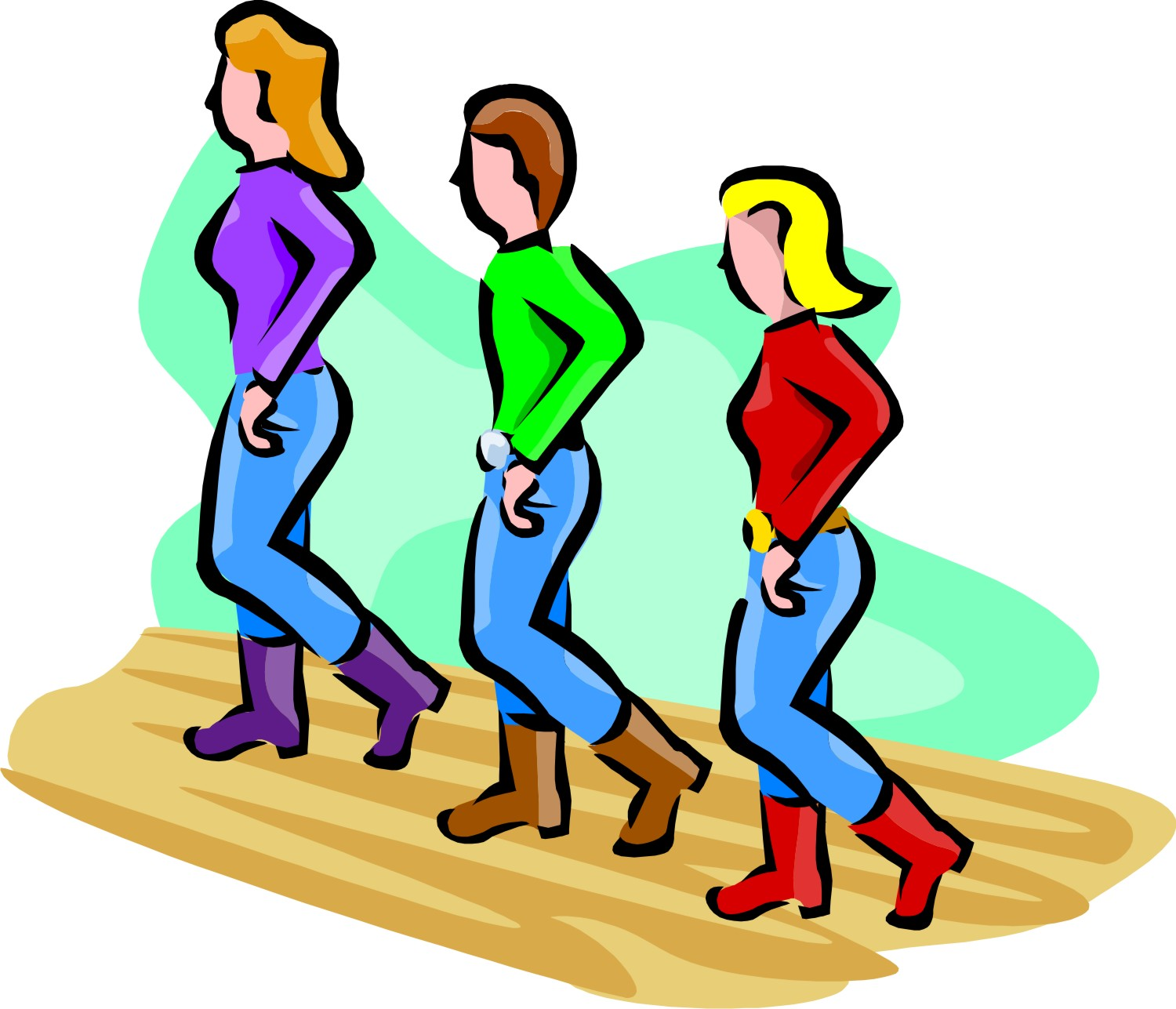 Line Dancing Free Clipart - Clipart Kid