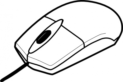Mouse clip art black and white - photo#55