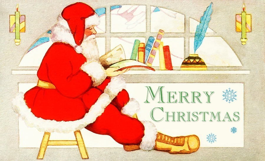 Reading Merry Christmas   Http   Www Wpclipart Com Holiday Christmas