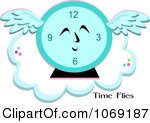 Royalty Free  Rf  Flying Clock Clipart Illustrations Vector Graphics