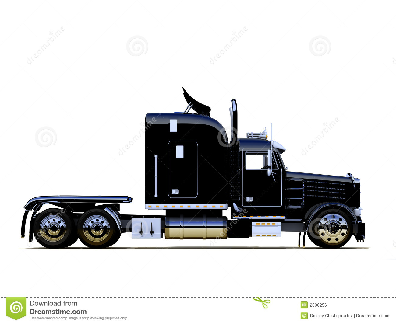 Royalty Free Stock Image  Black Powerful Truck