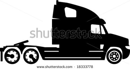 Semi Truck Silhouette Artwork