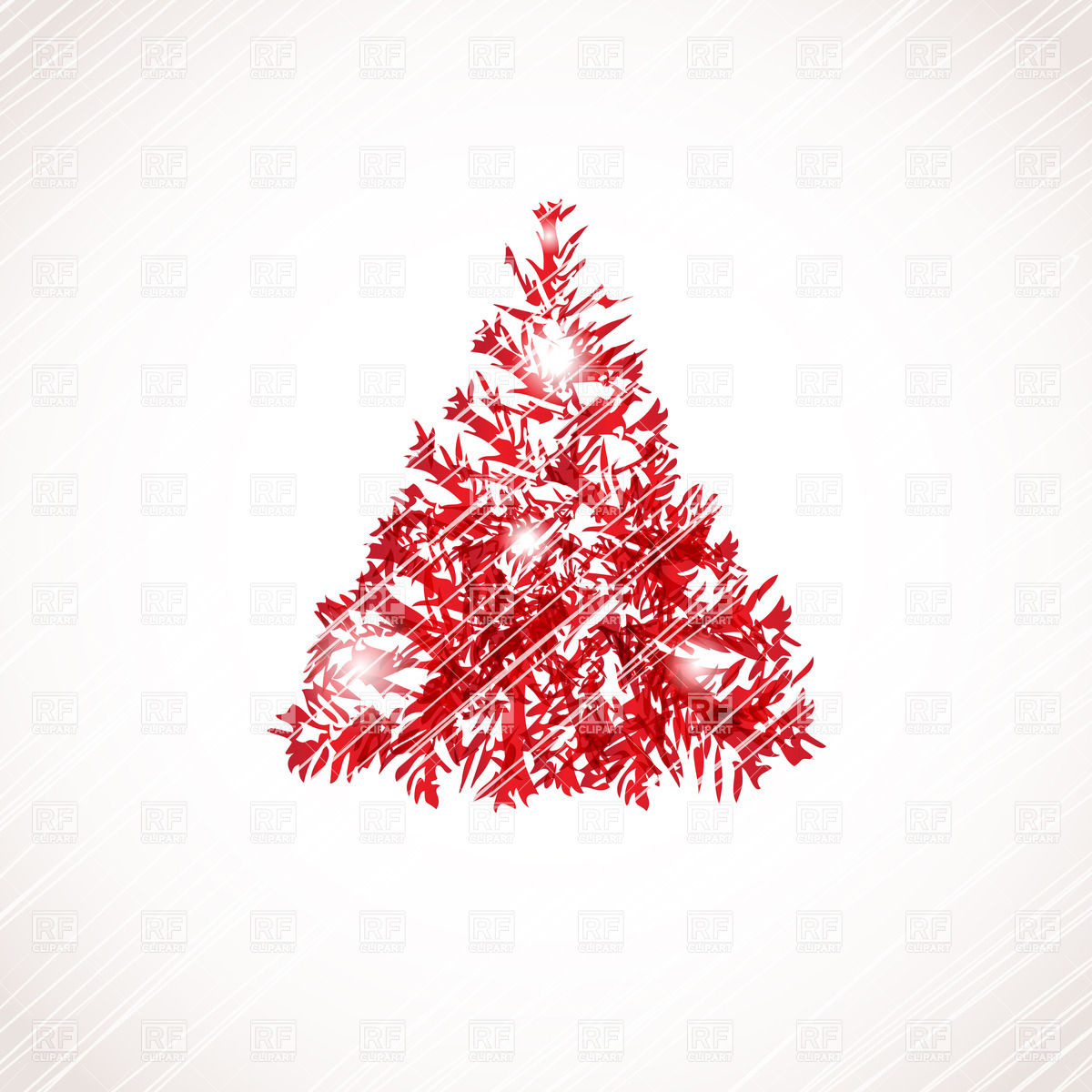 Red Christmas Tree Clipart - Clipart Suggest