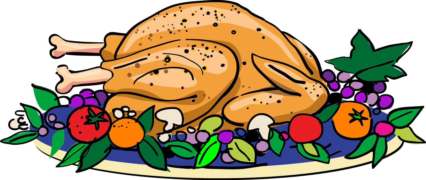Thanksgiving Food Clipart Thanksgiving Turkey Clip Art Cliparts Co