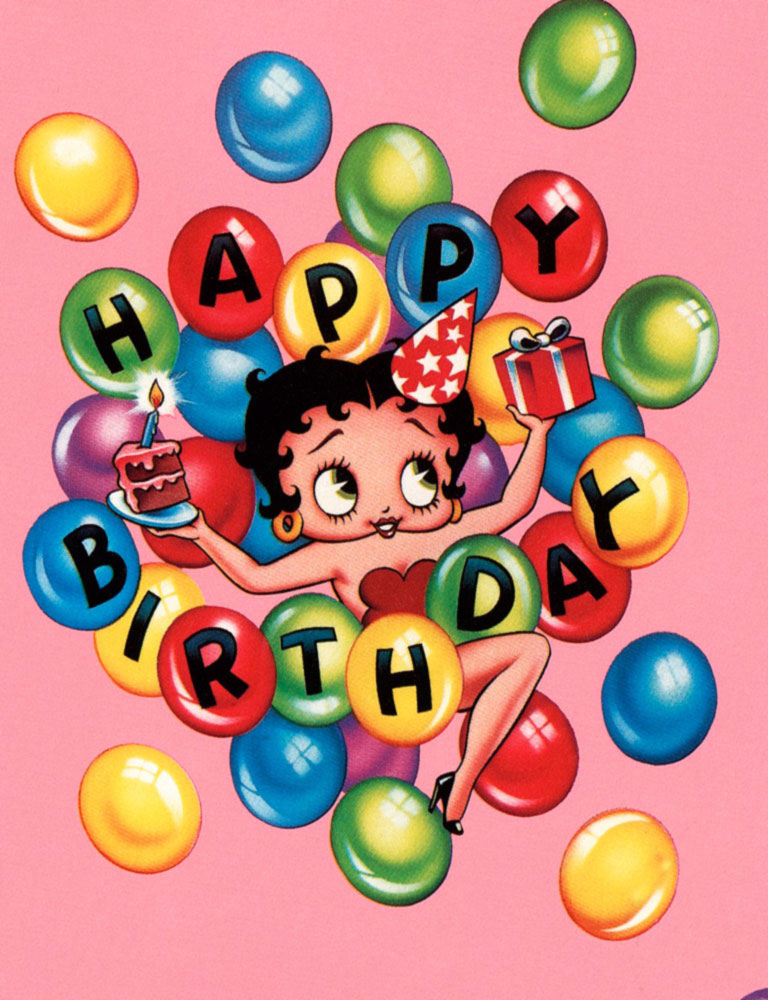 About Ultimate Betty Boop Birthday Wrapping Paper 32 Sq Ft Clipart