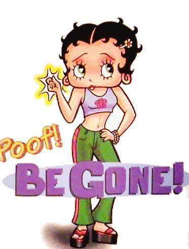 Art Bambini Cartoons Betty Boop Quadri Betty Boop   Poof  Be Gone